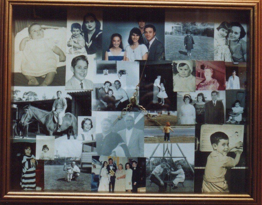 Photo collage of Edie Bierman's life