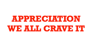 appreciation -0 we all crave it words