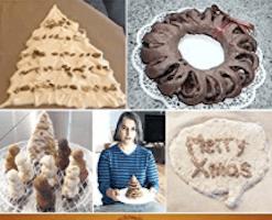 edible Xmas sculptures