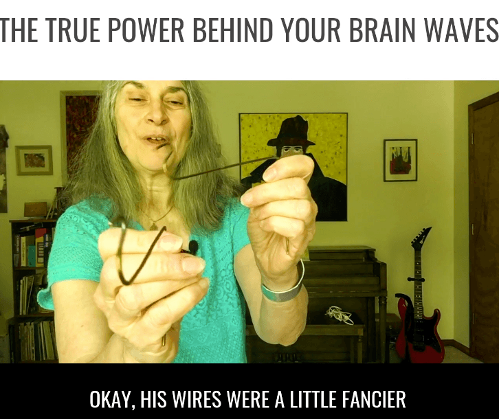 wires measure brain waves
