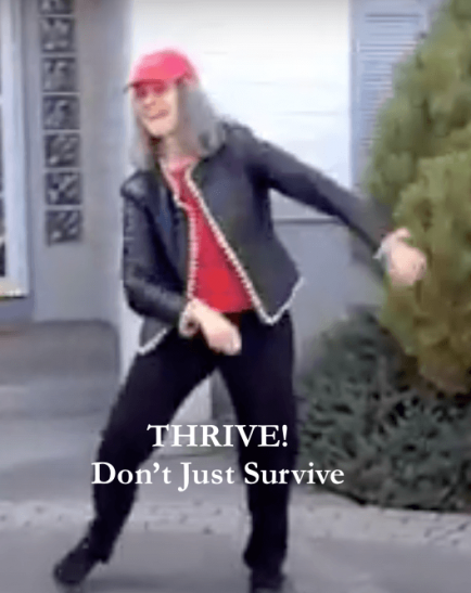 Ali doing the THRIVE Dance